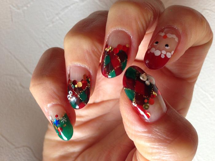 クリスマス サンタ ネイル